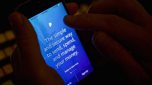 The PayPal application is arranged for a photograph on an Apple Inc. iPhone in Washington, D.C.