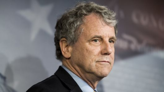 Sen. Sherrod Brown, D-Ohio, participates in the press conference on the nomination of Chad Readler, to be U.S. Circuit Judge for the Sixth Circuit, on Tuesday, March 5, 2019.