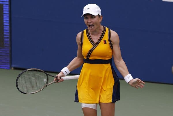 Simona Halep of Romania is on to the second round.